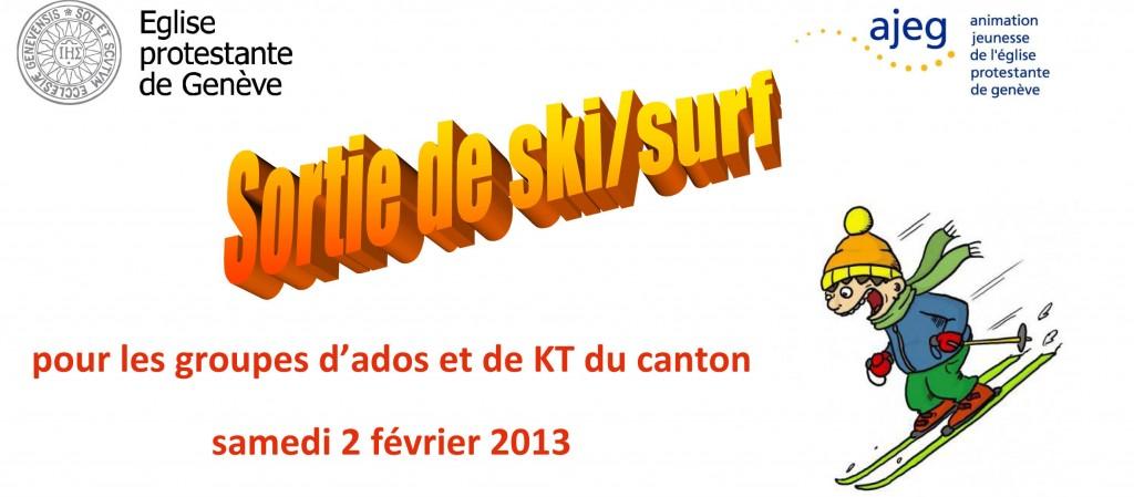 Sortie à ski d'une journée organisée par l'AJEG